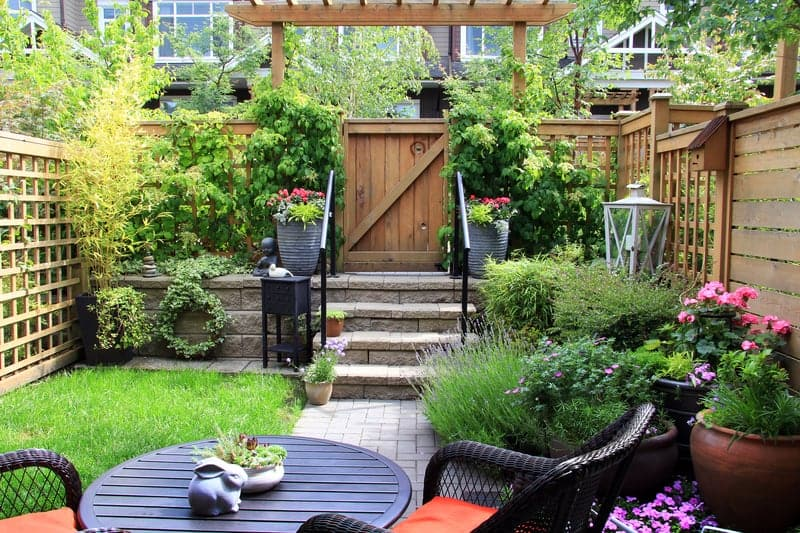 Cozy small backyard