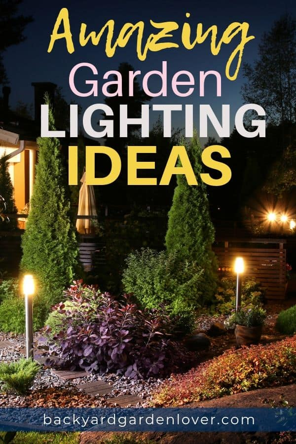 Every backyard needs a bit of ambient lighting. Here are several garden lighting ideas that will enhance your outdoor life ;) #outdoorlights #outdoorlighting #light #backyard #safety #ambinace