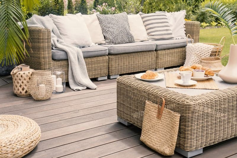 Luxurious patio furniture