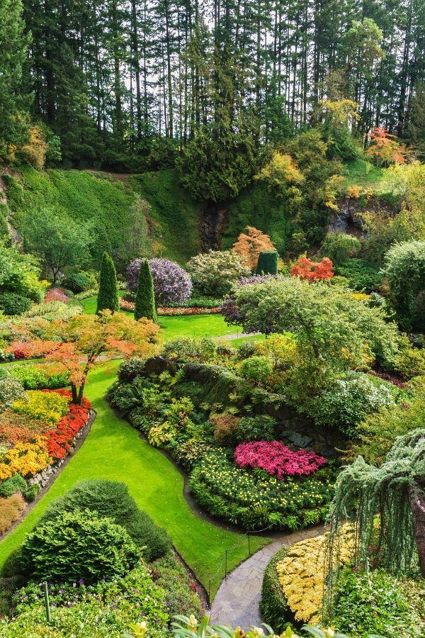 Sunken Butchart garden