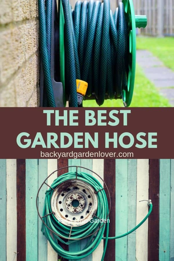 The best garden hose for watering your favorite garden. Cheap watering hoses might last you a season, but the garden hoses I gathered here will last you for a long time! #gardening #gardenhose #wateringhose #garden #organic #flowergarden #gardeningtools