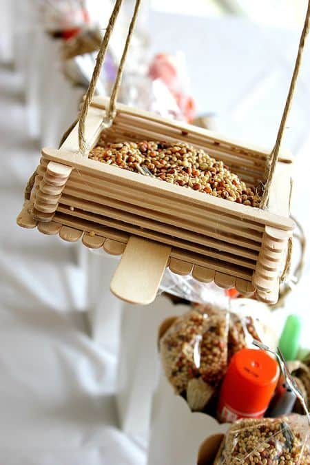 How to Make Popsicle Stick Bird Feeders