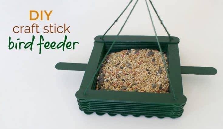 Easy DIY Bird Feeder Made of Craft Sticks