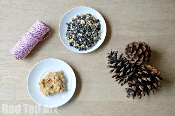 Pine Cone Crafts - Bird Feeders
