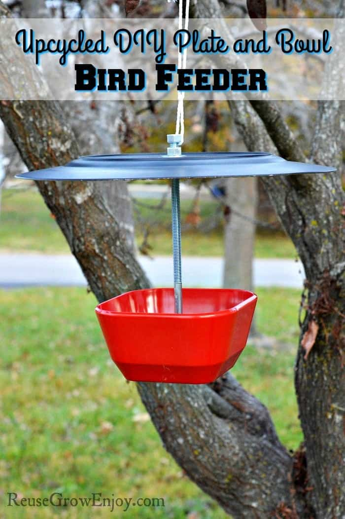 Up-cycled DIY Plate and Bowl Bird Feeder