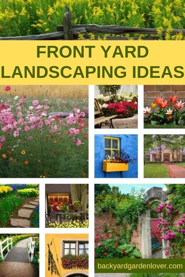 Front yard landscaping ideas collage