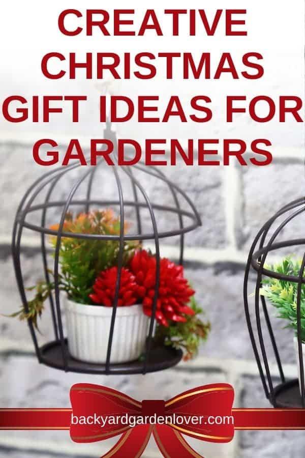 Creative Christmas gift ideas for gardeners - Pinterest