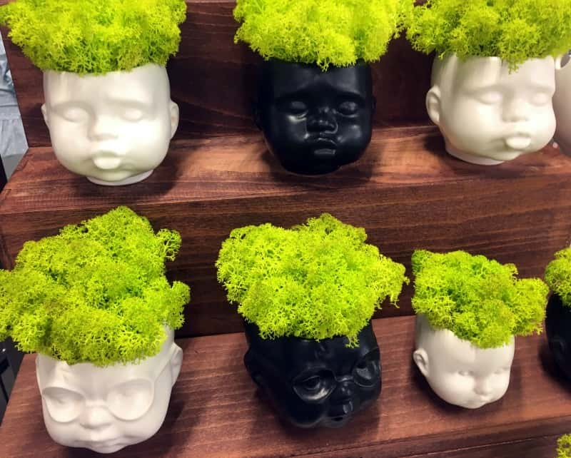 Baby doll head planters