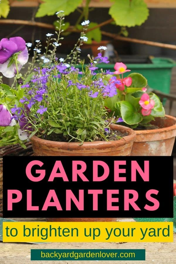 Add a few garden planters around your home for an added pop of color. Don't limit yourself: see which of there would go with your home decor. Got an empty corner? Add a tall planter with a cascading plant. Love succulents? Try a small, colorful container. Take a look: you'll love this collection of containers. #gardenplanters #containergarden #indoorgarden #patiogarden #gardener #landscaping #iloveplants #lanscape