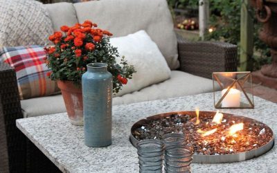 Outdoor fire pit table