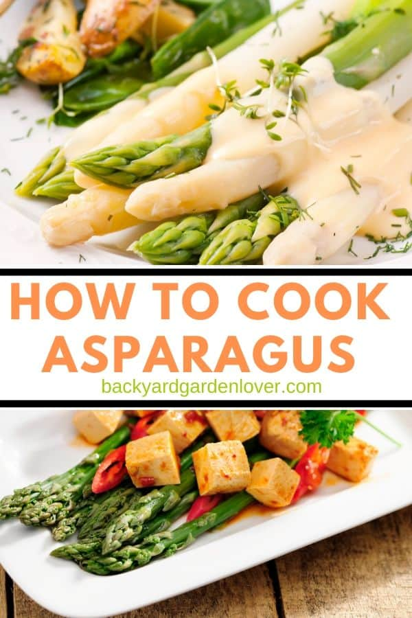 How to cook asparagus - Pinterest image