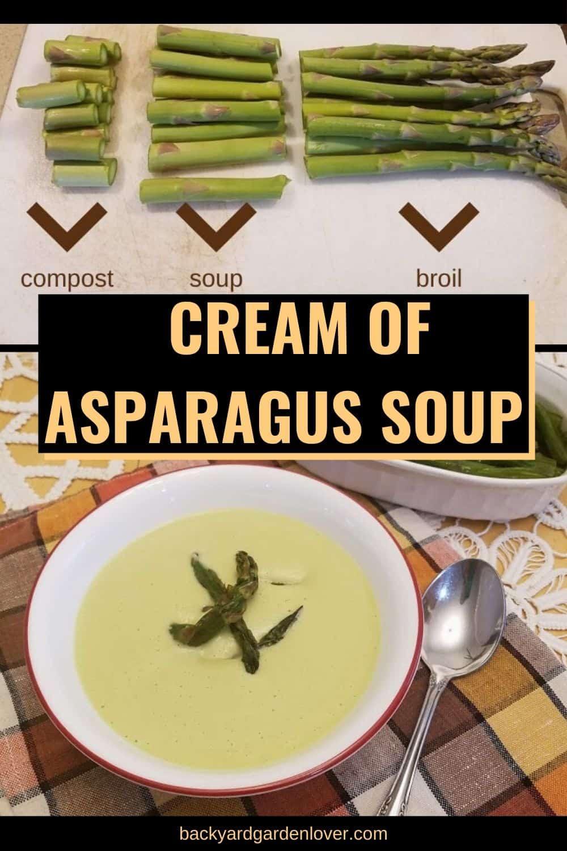 Cream of asparagus soup - Pinterest image