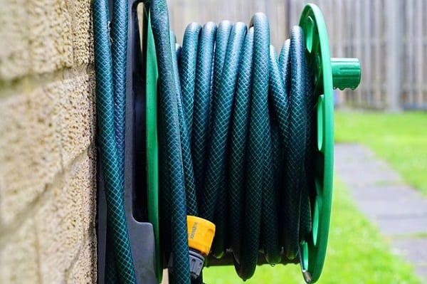 garden hose rolled up nicely