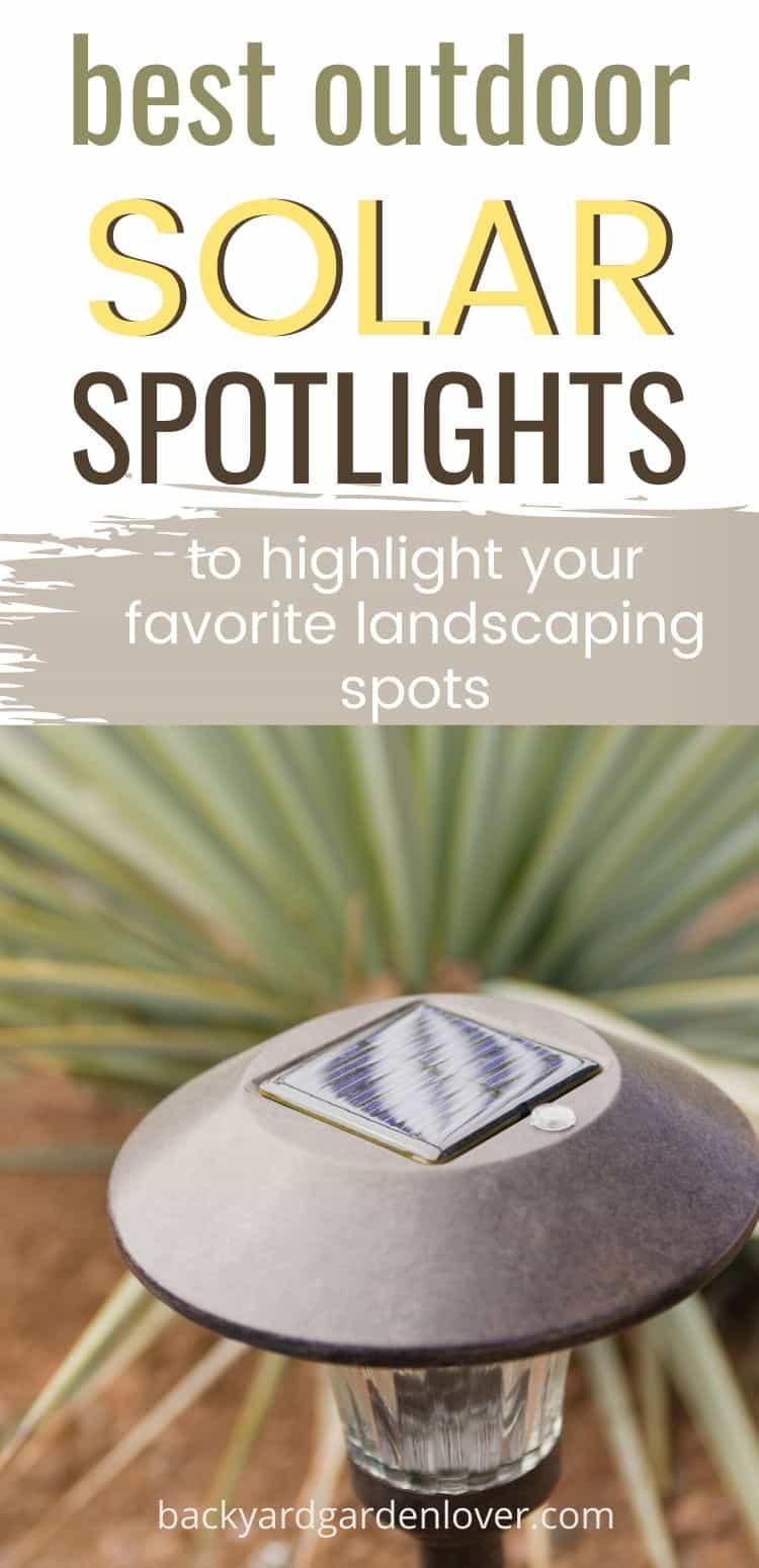 Outdoor solar spotlights