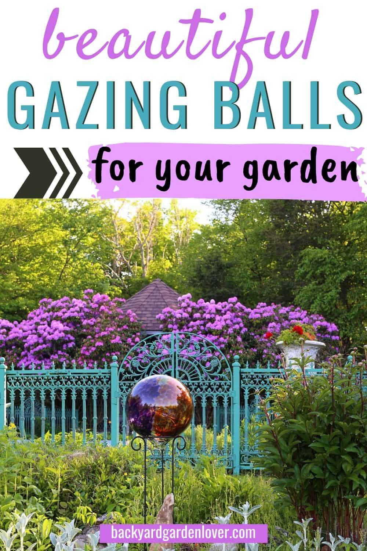 Beautiful gazing balls for your garden