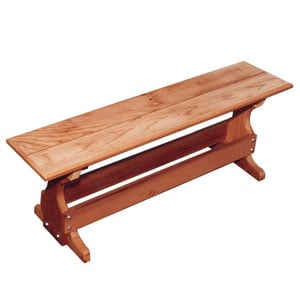 red cedar trestle bench
