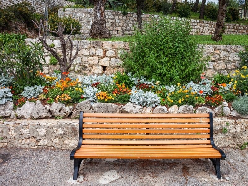 Beautiful garden bench