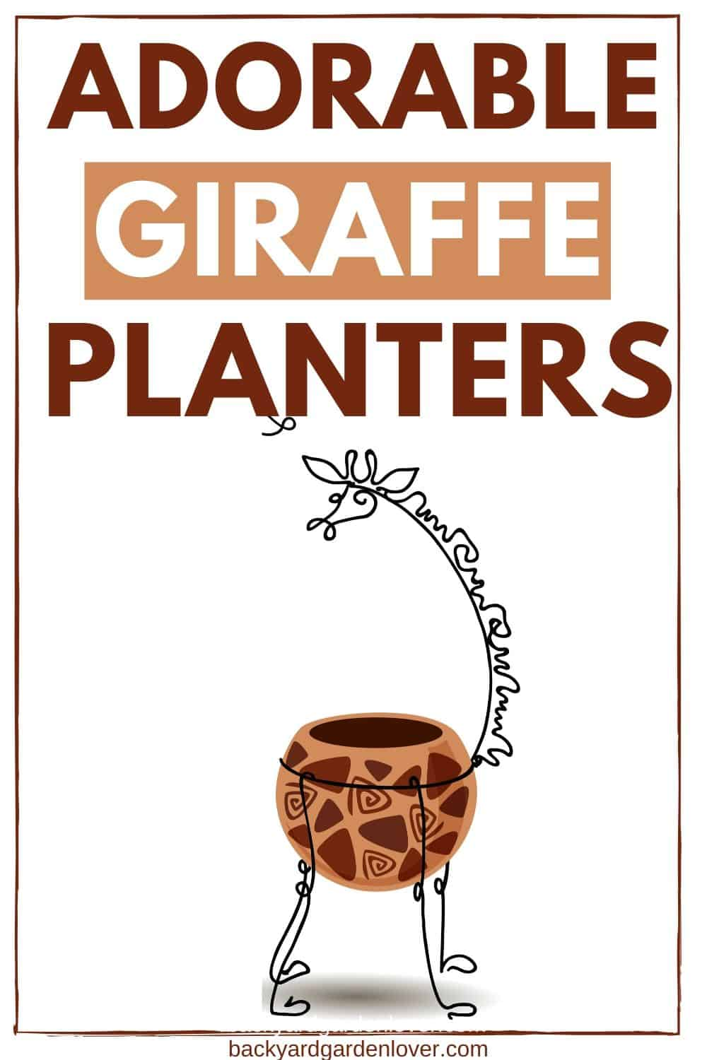 Adorable giraffe planters for your home