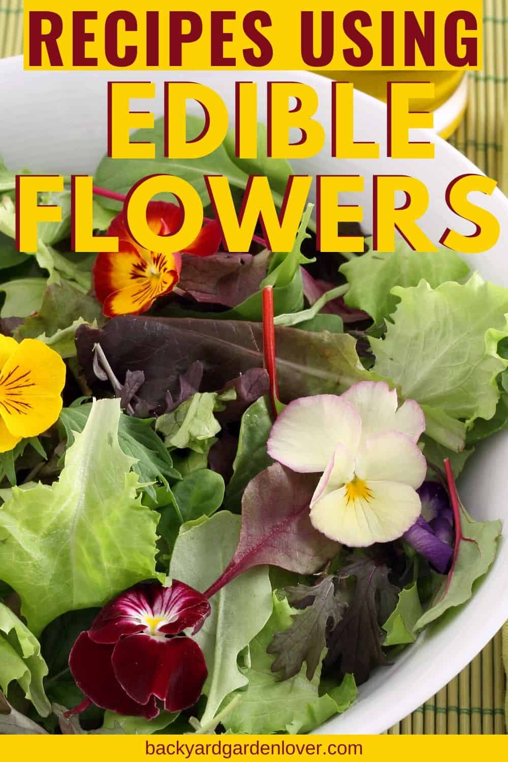 Recipes using edible flowers poster