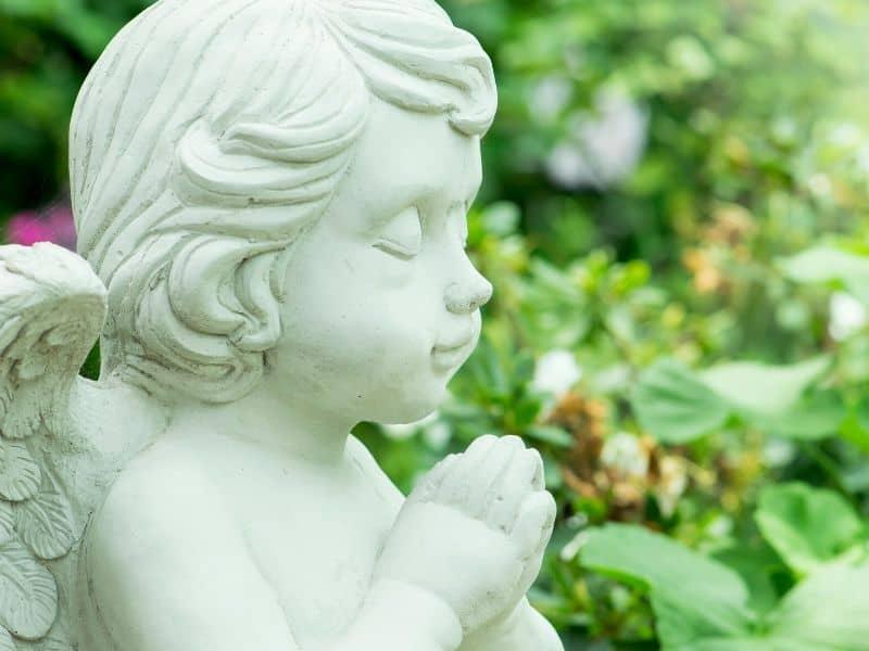 Cute garden angel