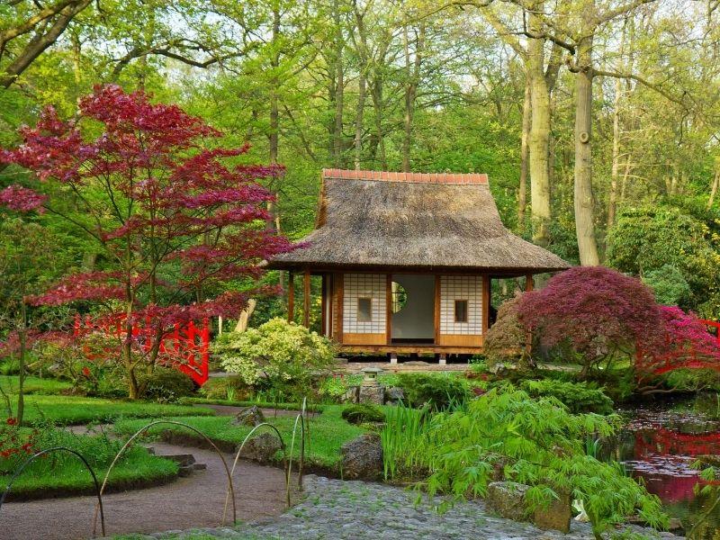Cute garden spot Japanese style