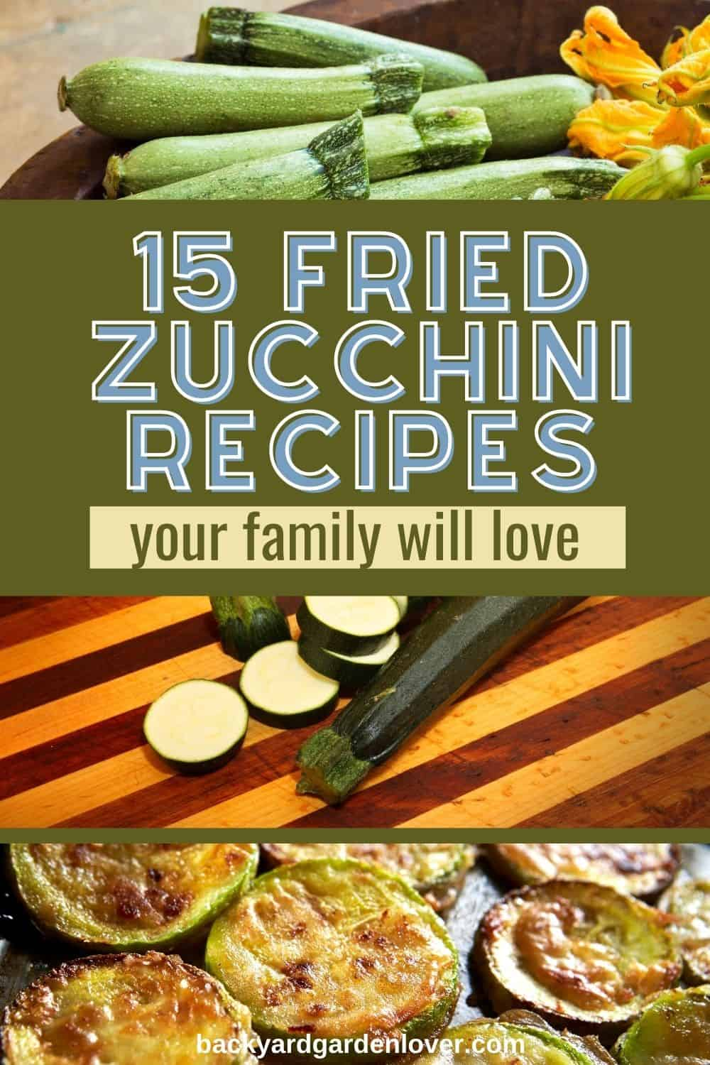 Fried zucchini recipes your family will love - Pinterest Image