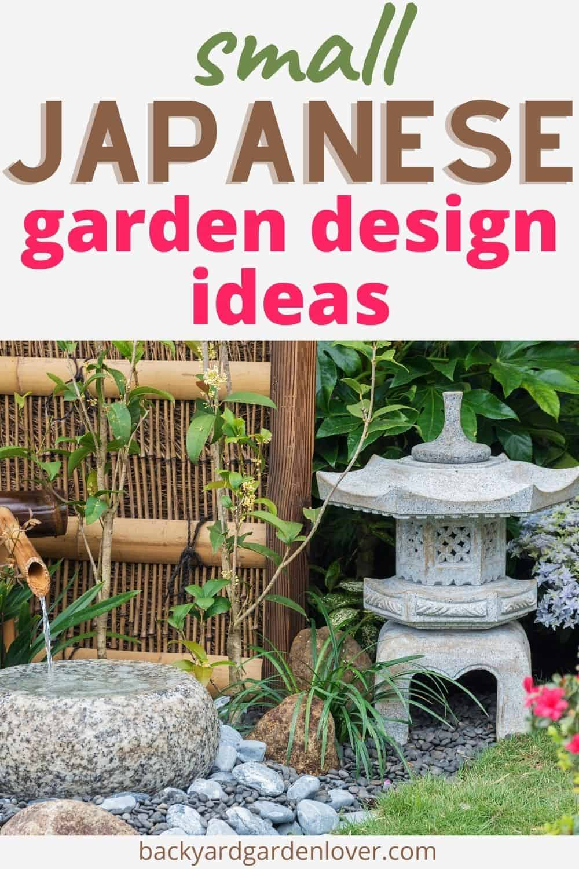 Small Japanese garden design ideas - Pinterest image