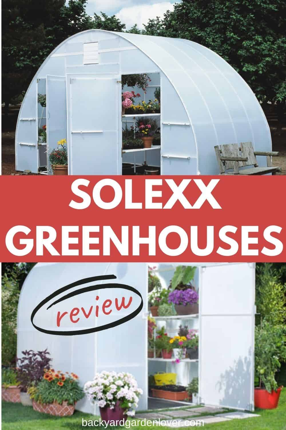 Solexx greenhouse review - Pinterest image