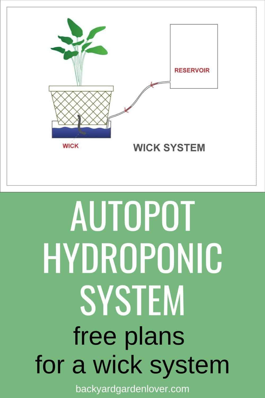 Autopot hydroponics system - Pinterest image