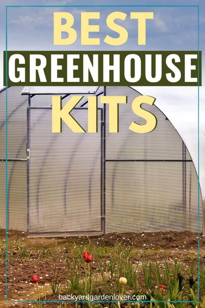 Best greenhouse kits -  Pinterest image