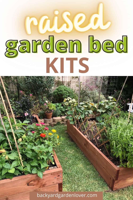 Best raised garden bed kits - Pinterest image