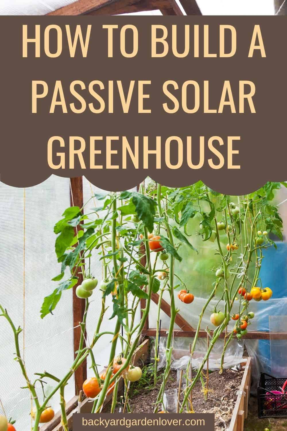 How to build a passive solar greenhouse - Pinterest image