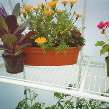 Wire greenhouse shelving