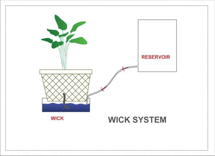 Wick system diagram