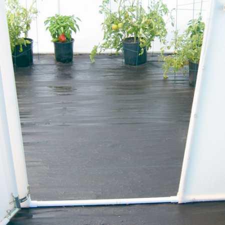 Greenhouse tarp flooring