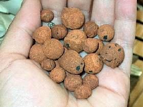 A handful of clay balls