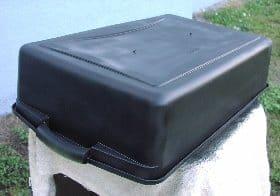 Black painted bin