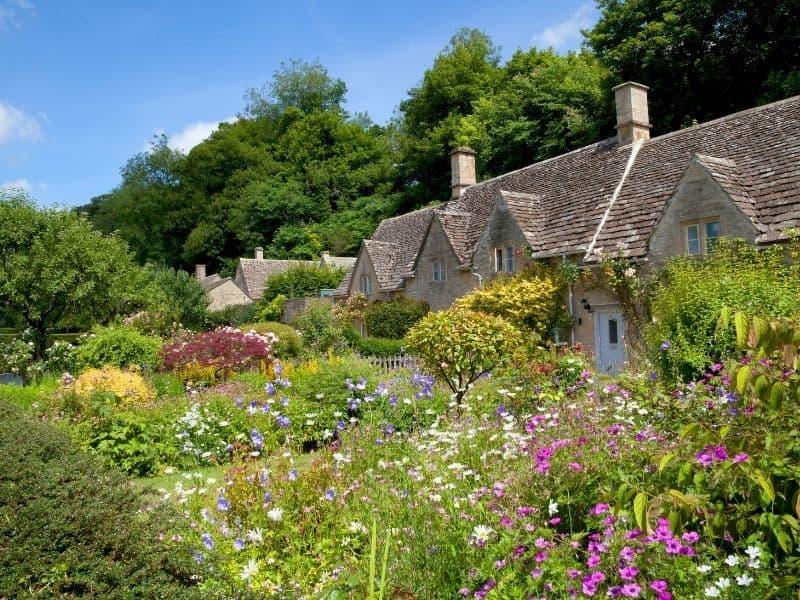 a charming cottage garden