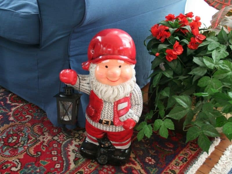 Cute Christmas gnome by my couch
