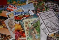 A collection of seed catalogs