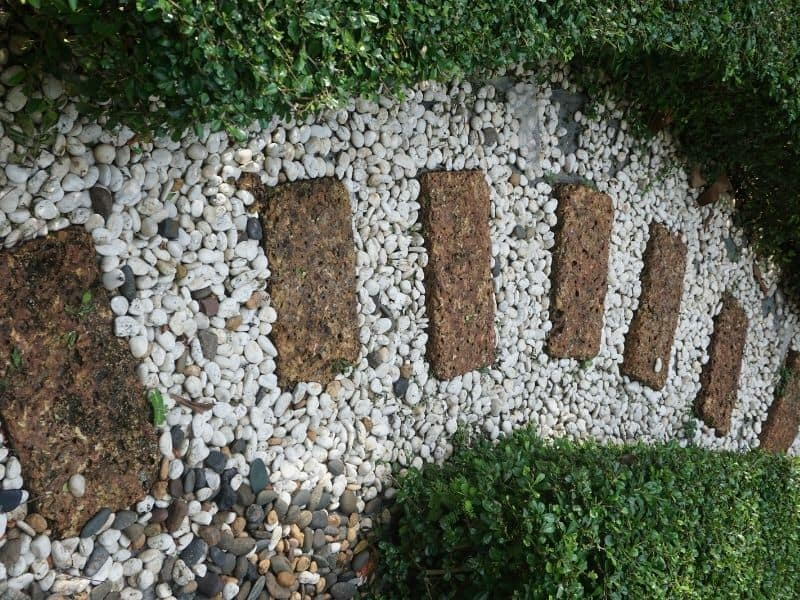a gravel walkway