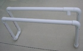 PVC frame for buckets