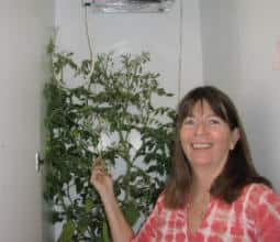 Stella in the hydroponic closet