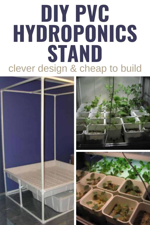 DIY PVC hydroponics stand