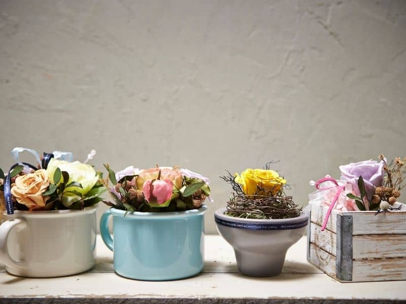 cute containers for flower arrangements