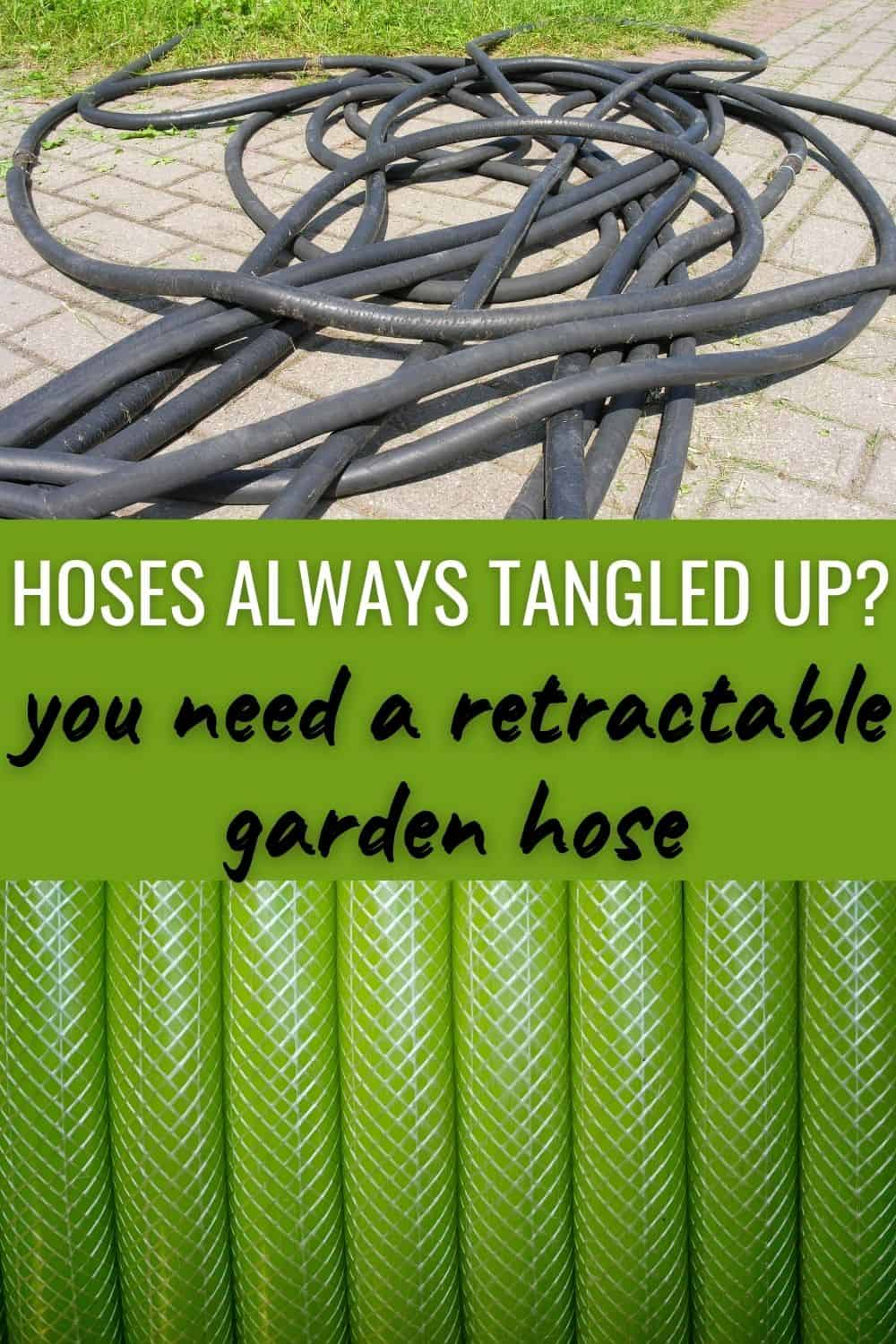 Hoses always tangled up? You need a retractable garden hose