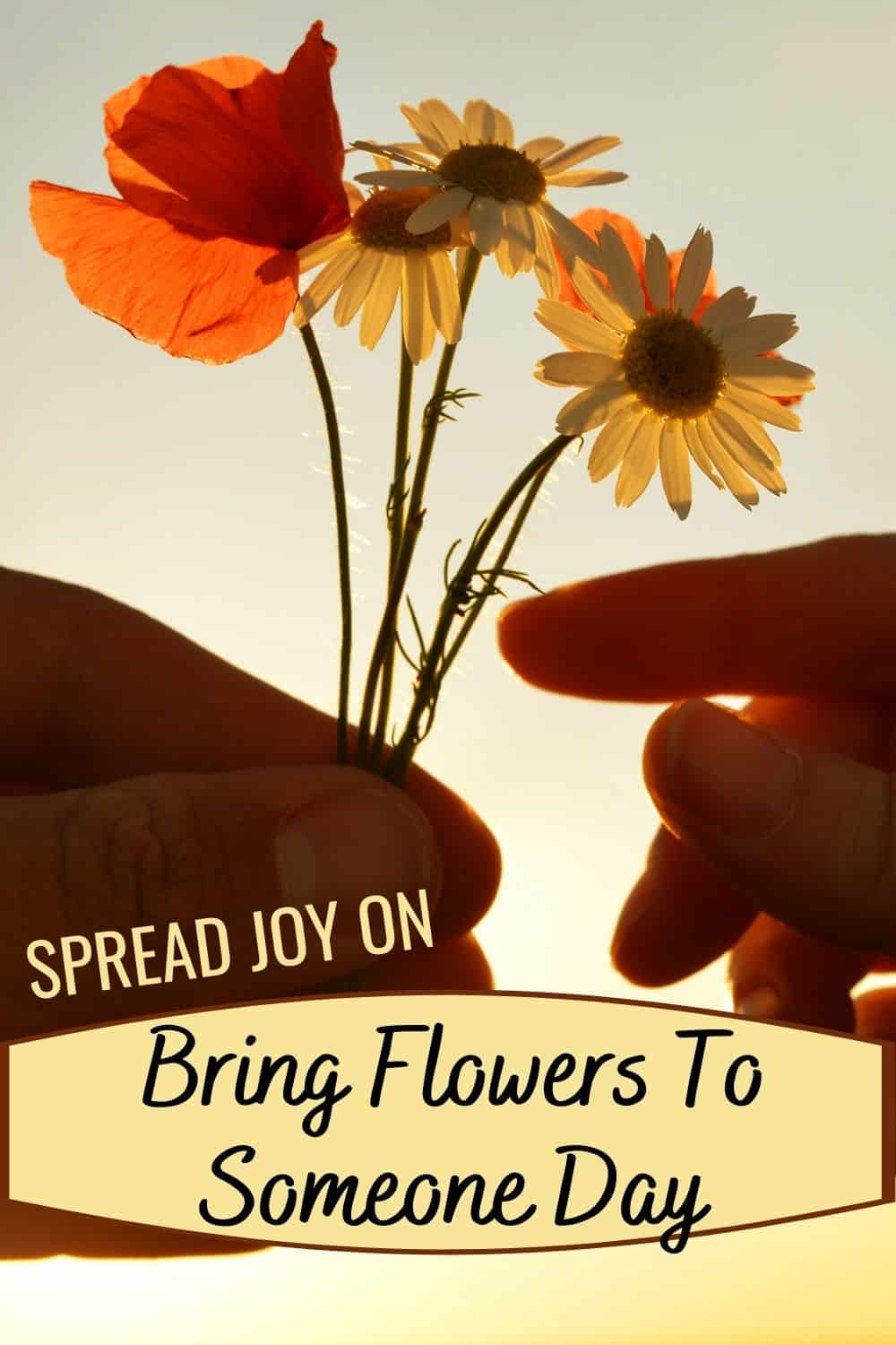 Spread joy on Bring Flowers To Someone Day
