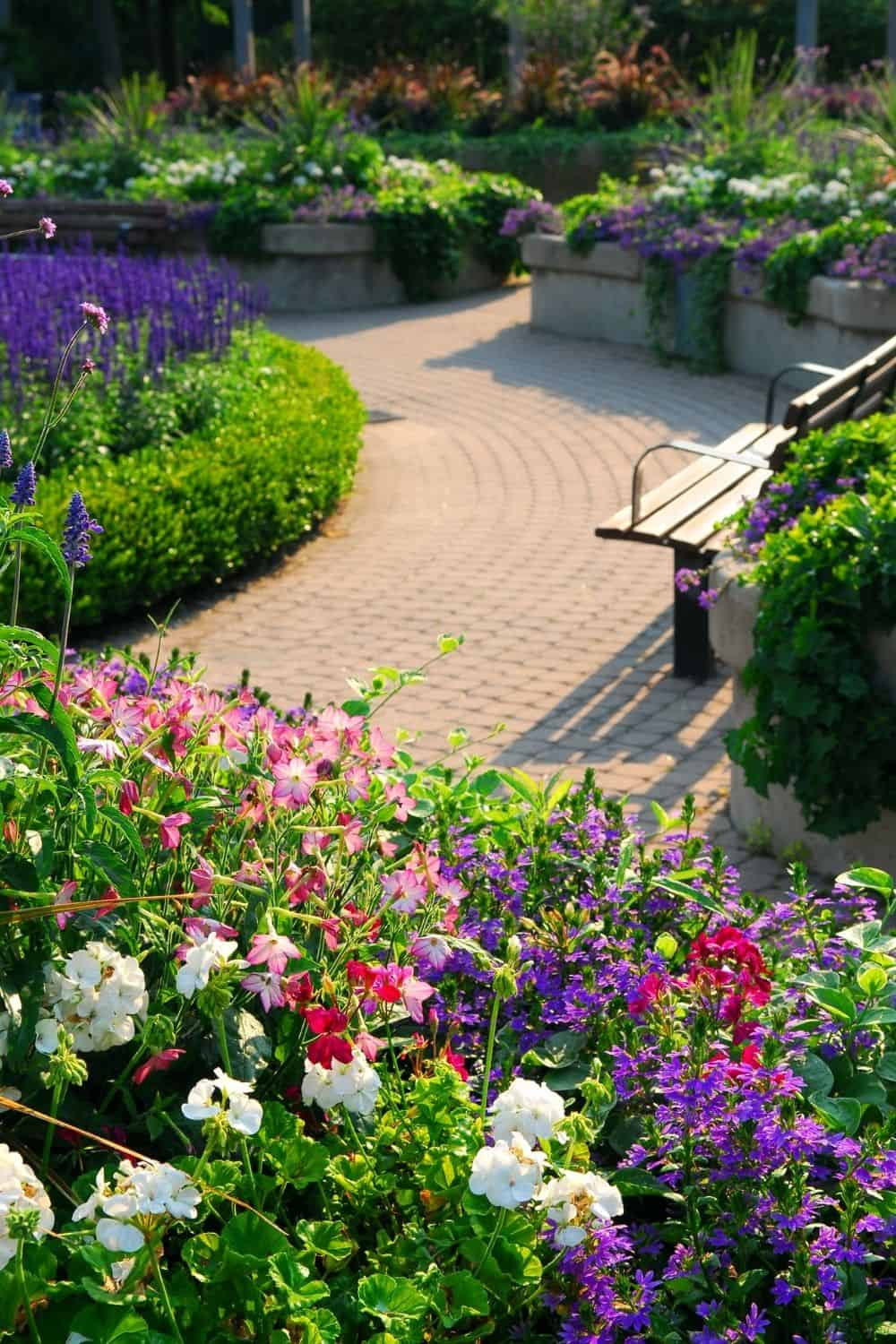 A beautiful example of landscaping with small shrubs