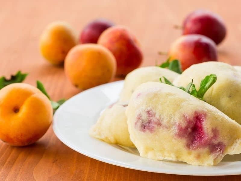 homemade peach dumplings