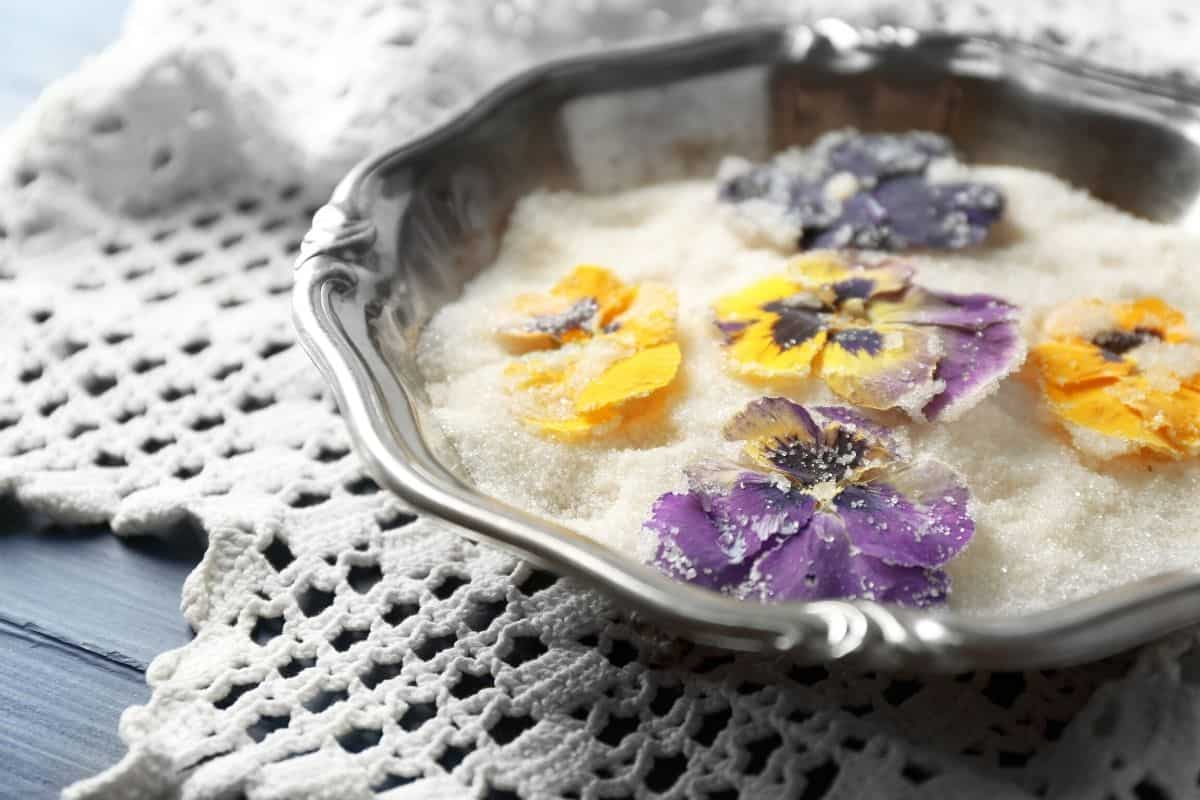 candied flowers